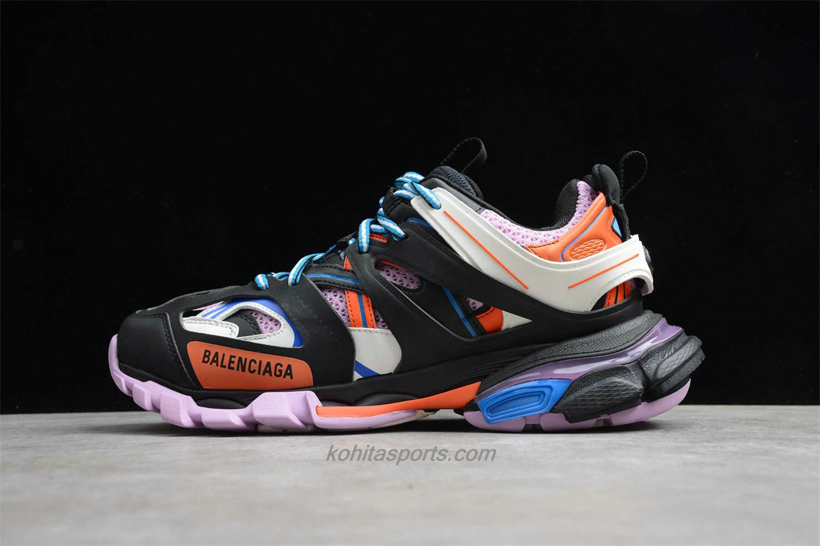 Chaussures Balenciaga Track Low Top Noir / Violet / Blanc / Orange - ECBA8179081