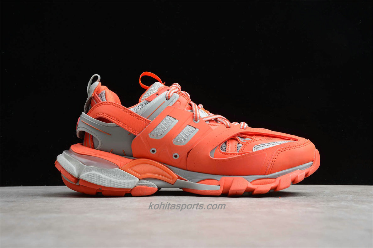 Chaussures Balenciaga Track Low Top Orange / Cendre grise - ECBA8208238