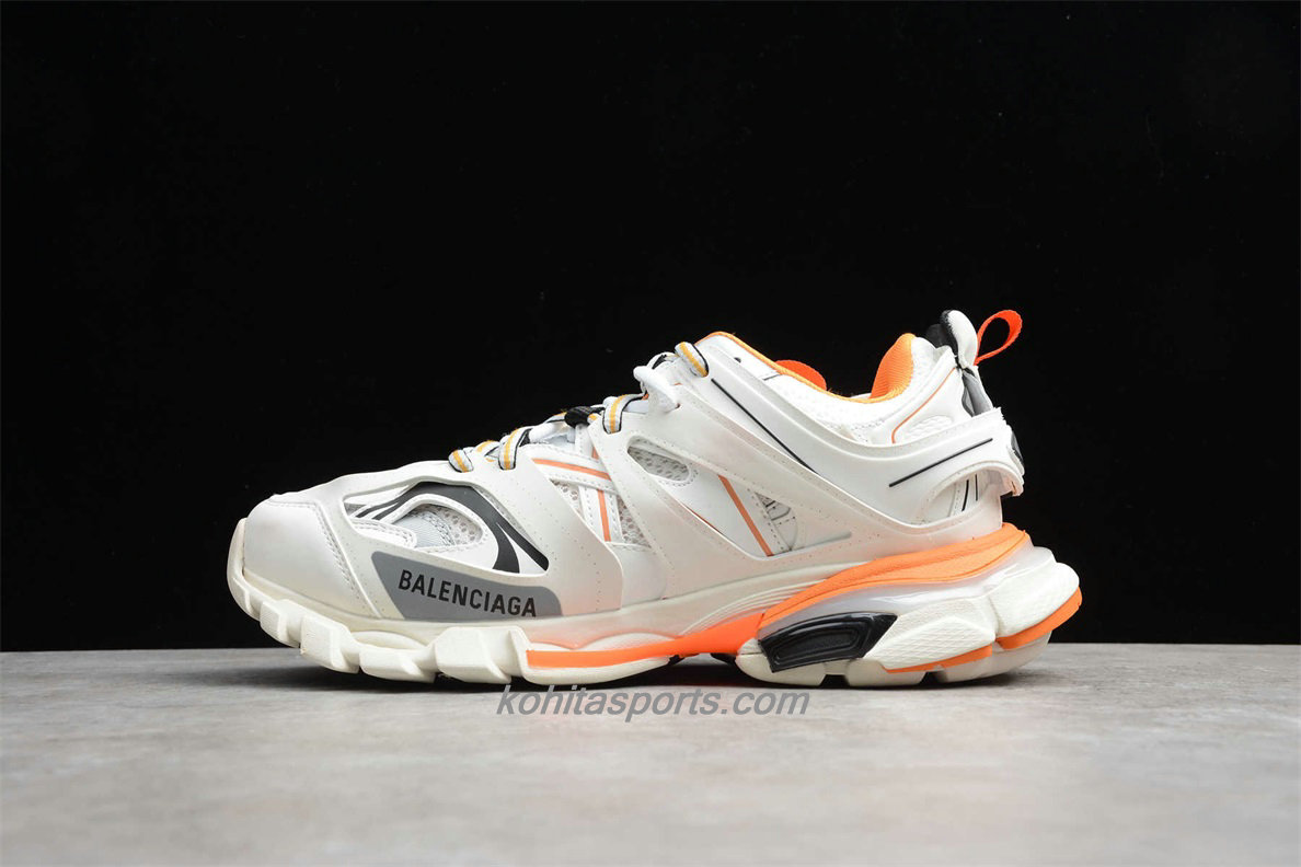 Chaussures Balenciaga Track Low Top Blanc / Orange / Gris