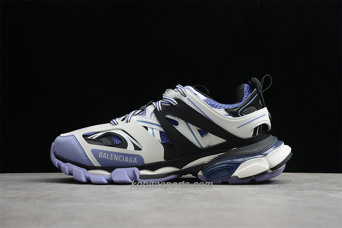 Chaussures Balenciaga Track Low Top Violet / Blanc / Noir